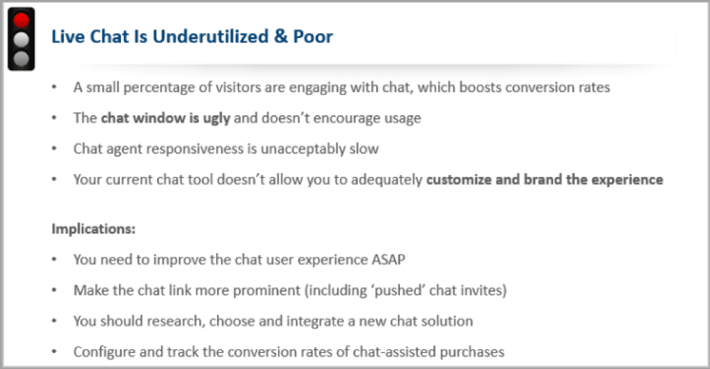 If live chat is underutilized